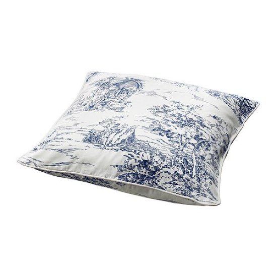 If you love toile but aren't ready to commit to a wallpapered room, try injecting doses of the traditional print with a throw pillow. This Emmie Land Cushion Cover ($5) offers the classic look for a steal.