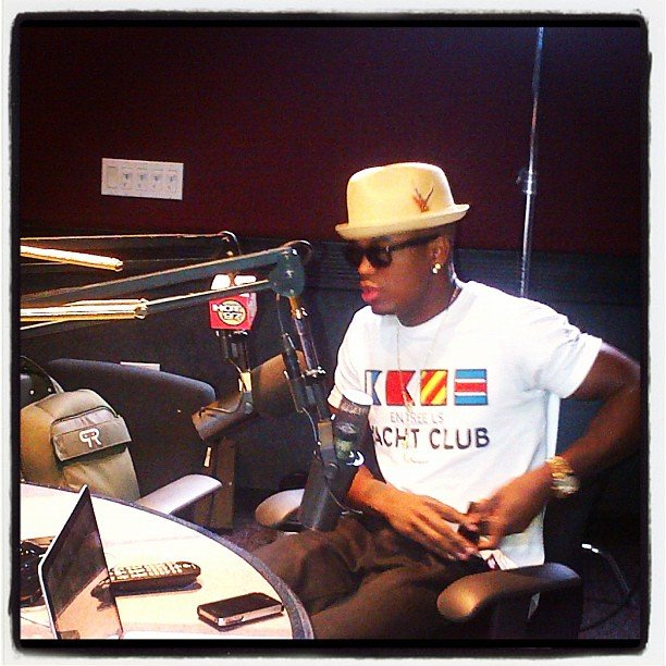 Ne-Yo stepped into the studio for a radio chat. Source: Instagram user compound_ent