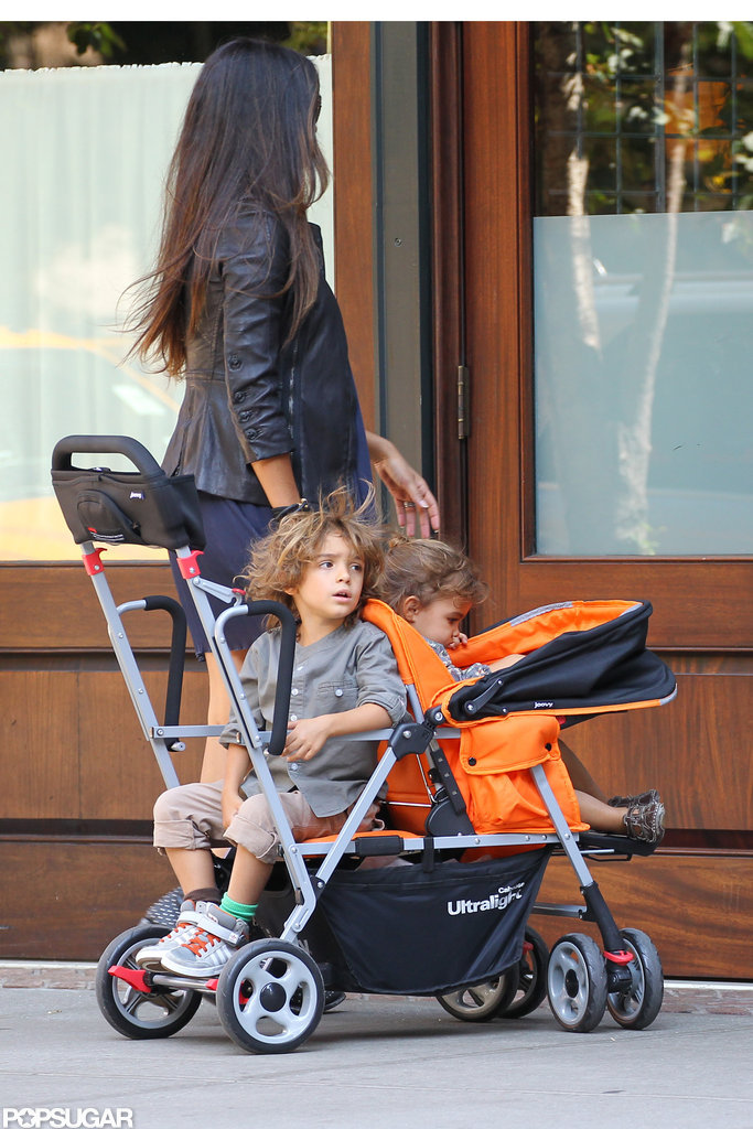 Camila Strolls With the Kids as Thin Matthew Works
