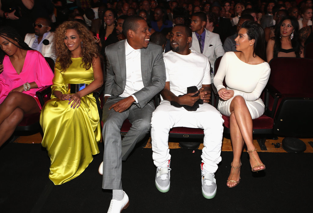 It was fun to see Beyoncé and Jay-Z hanging out in the front row with Kanye West and Kim Kardashian at July's BET Awards in LA.