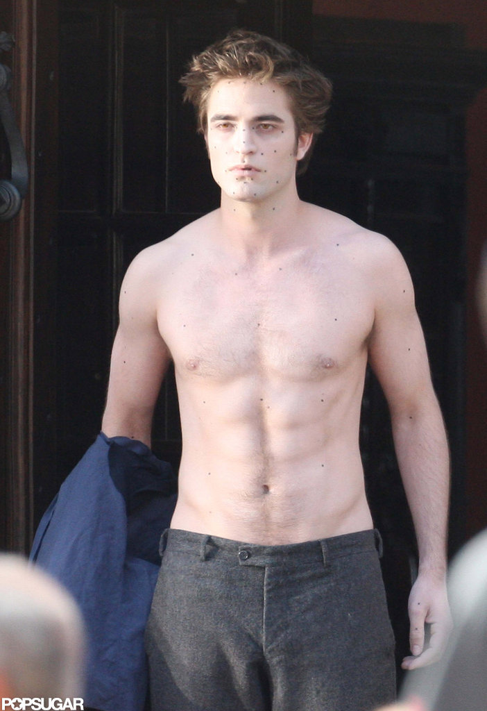 robert pattinson went shirtless cameras while italy