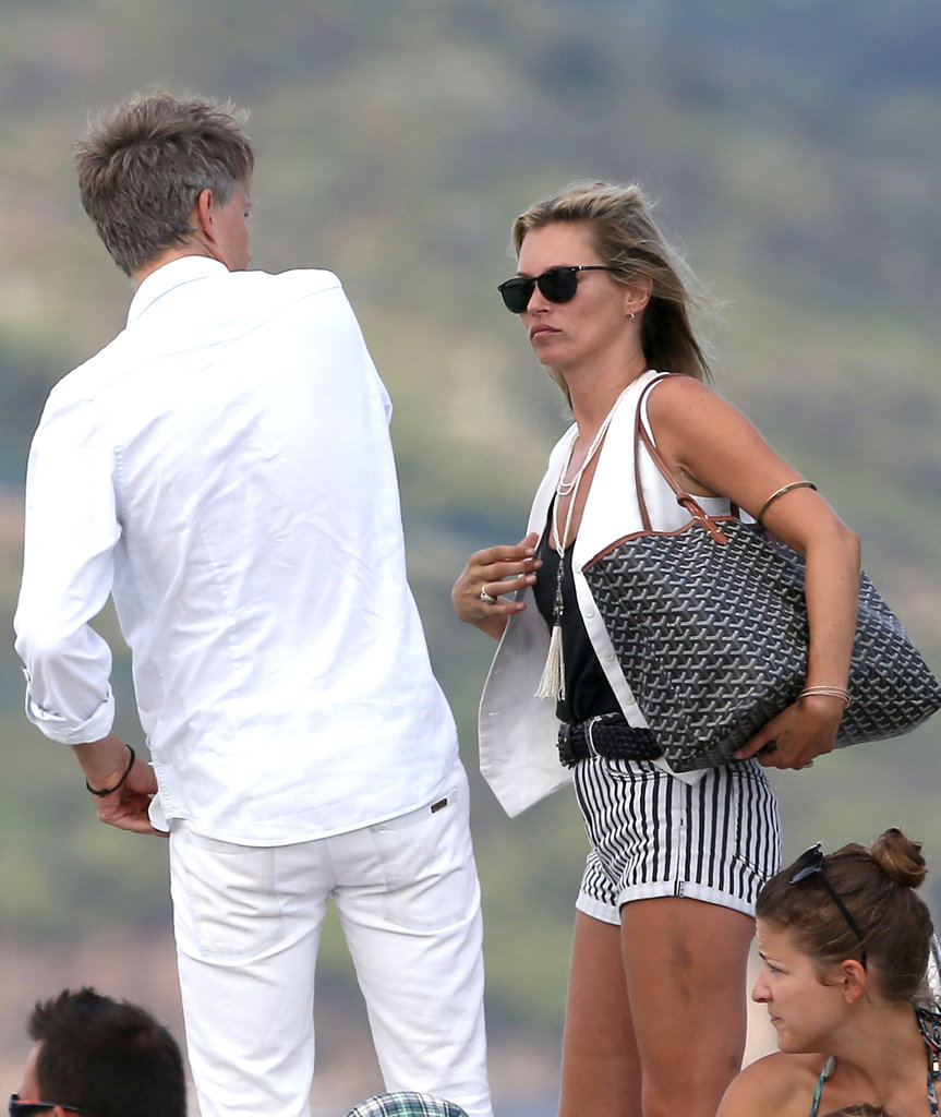 Kate Moss and Jefferson Hack hopped off a boat in Saint-Tropez.