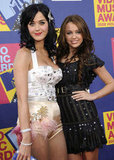 Katy Perry took Miley Cyrus under her wing on the red carpet of the 2008 awards.