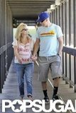 Reese Witherspoon held hands with husband Jim Toth.