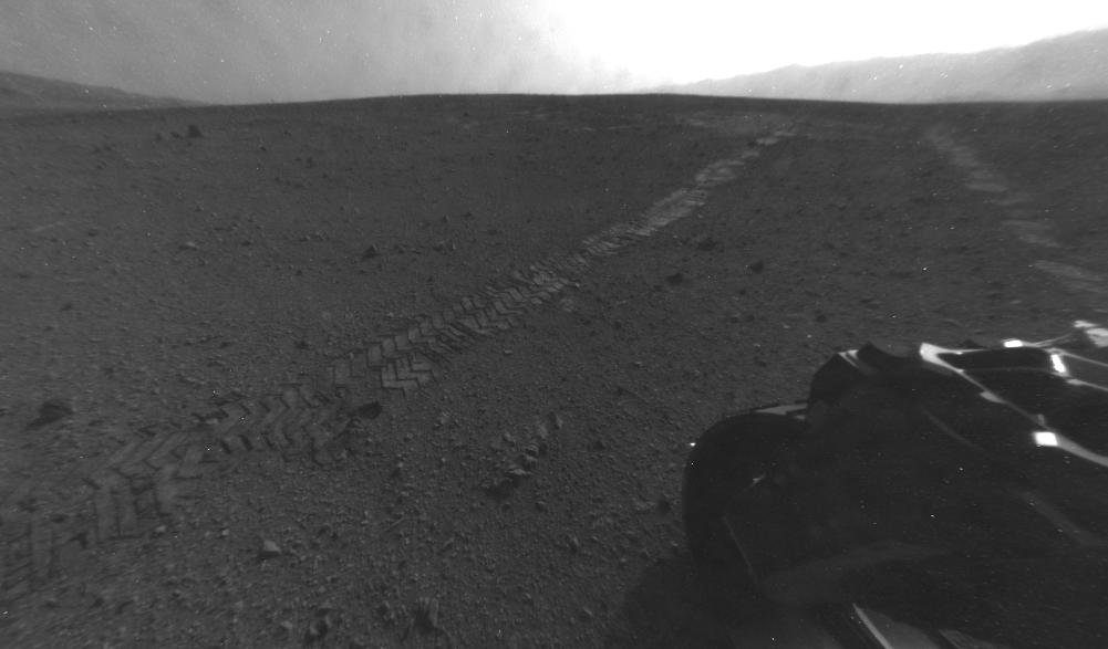 Curiosity drove 52 feet after landing on Mars. Source: NASA