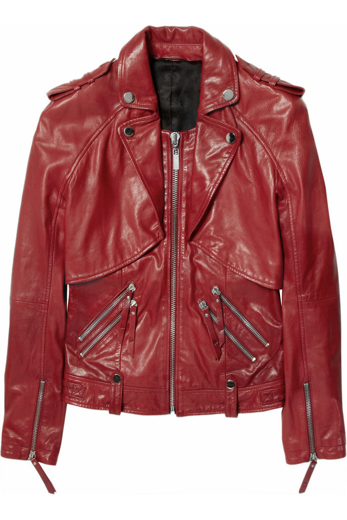 We may already have our go-to black leather jackets, but this statement-making red version will take our looks to another level with its edgy, high-wattage color.  Karl Onyx Leather Biker Jacket ($1,045)