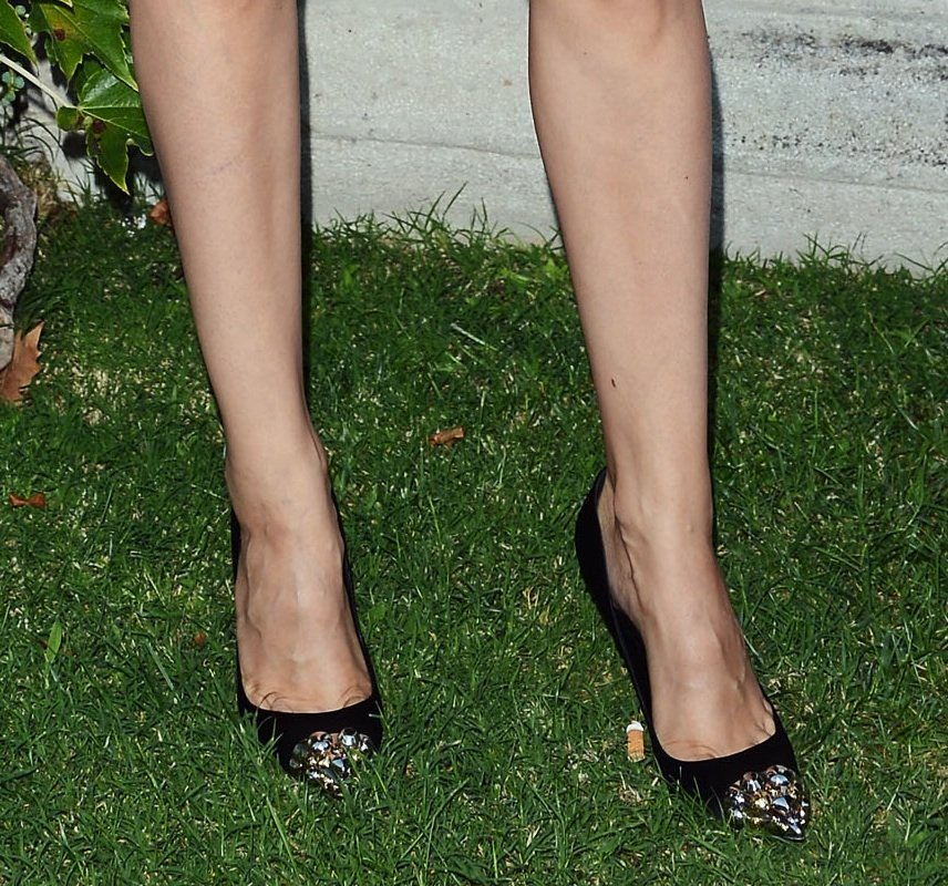 No matter how many times we spot them, we always love getting a second look at Louis Vuitton's cap-toe pumps.