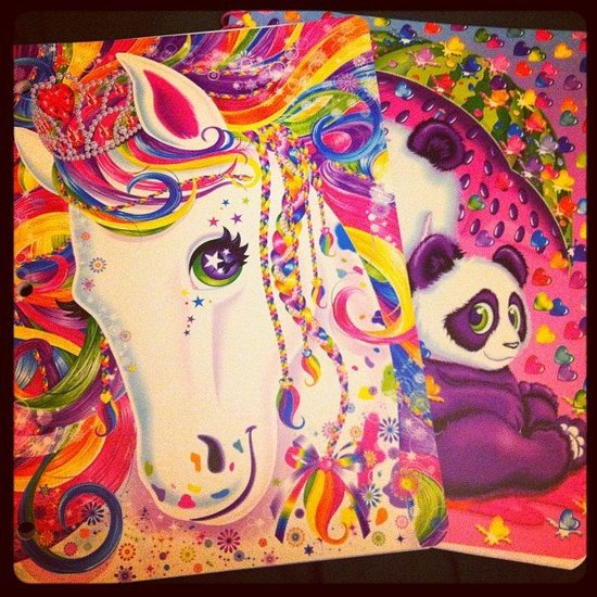 Carrying Our Lisa Frank Folders