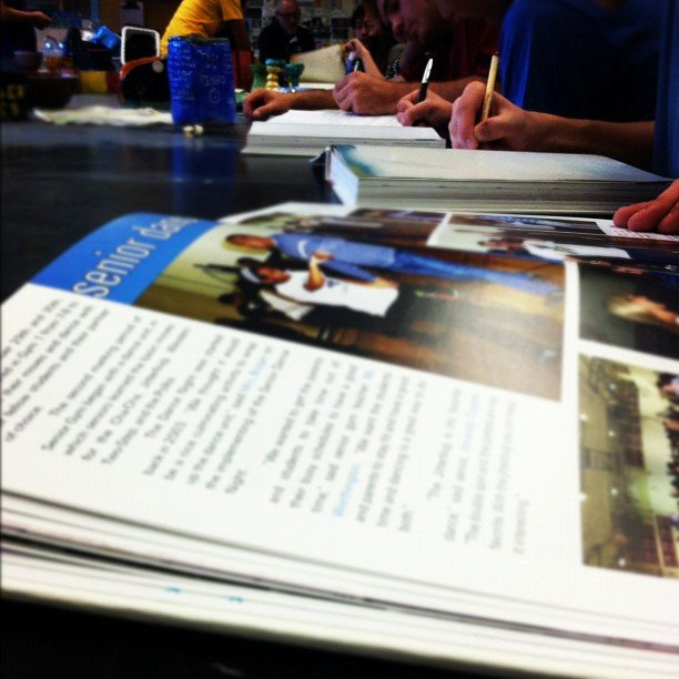 Signing Yearbooks