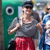Diane Kruger Wearing Striped Shirt
