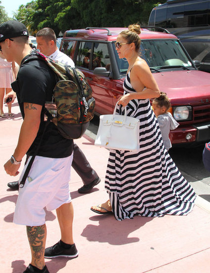 J Lo and Casper Smart arrived in Miami.