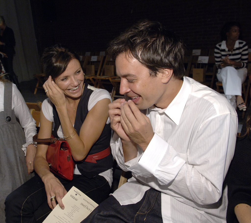 Cameron Diaz and Jimmy Fallon laughed in September 2007 at Rag & Bone in NYC.