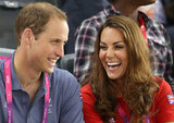 Kate Middleton laughed with her husband.