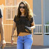 Mila Kunis Shows Abs in a Crop Top | Pictures