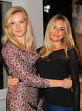 Sienna Miller attended a Fashion's Night Out event at Intermix with her sister Savannah in 2009.