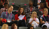 Kate Middleton and Prince William watched sports.