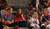 Kate Middleton and Prince William checked out the action.
