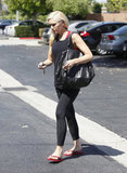 Gwen Stefani walked to her car after running an errand.
