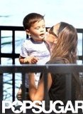 Gisele Bundchen gave Benjamin a big kiss in the park.