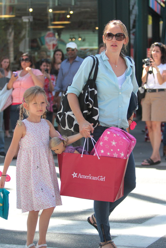 Violet Affleck carried her dolls while out with Jennifer Garner in LA.