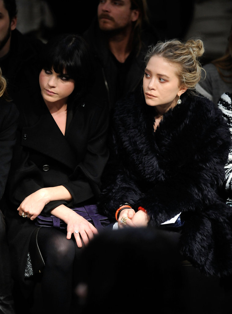 Selma Blair and Mary-Kate Olsen attended the Proenza Schouler February 2010 show in NYC.