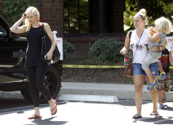 Gwen Stefani walked with her boys and their nanny in LA.