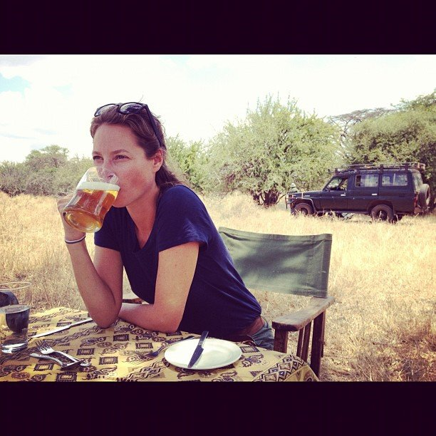 Christy Turlington went on a safari. Source: Instagram user cturlington