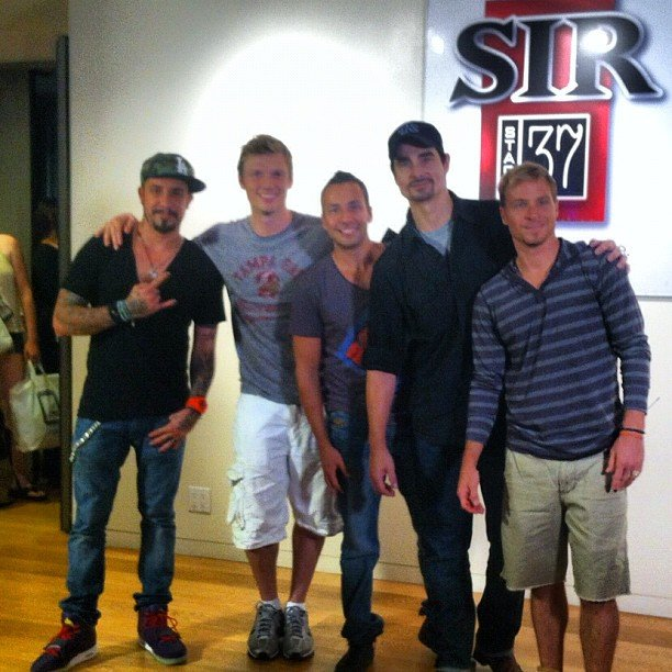 The Backstreet Boys were spotted backstage rehearsing for Good Morning America. Source: Instagram user peoplemag