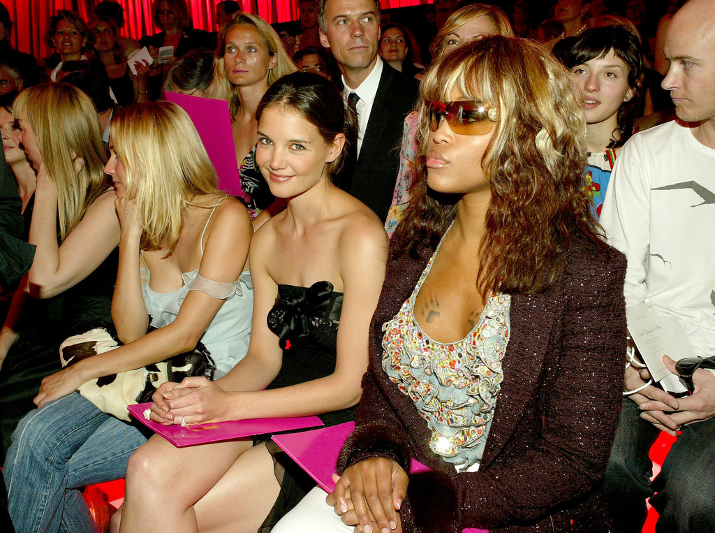 In July 2004, Katie Holmes and Eve saw Christian Dior's Paris show.