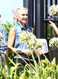 Gwen Stefani smiled for the camera.