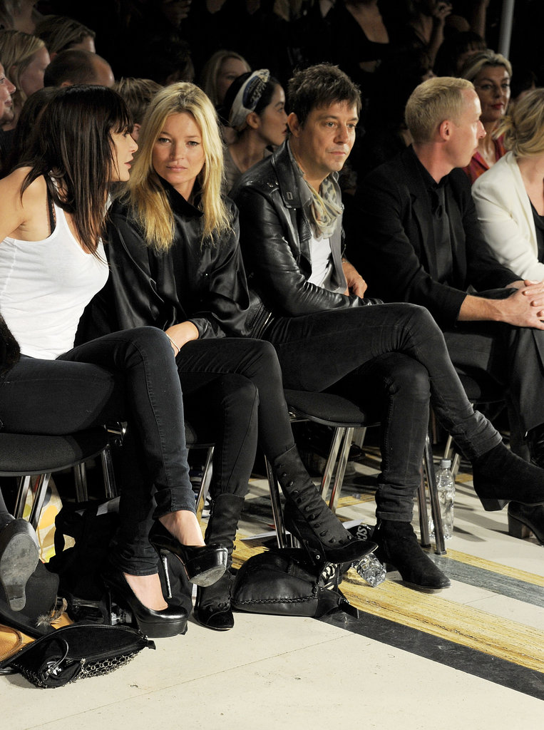 Kate Moss had her husband, Jamie Hince, and good friend Annabelle Neilson by her side for the James Small show in London in September 2011.