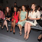 Julianne Moore, Kerry Washington, Isabel Lucas, and Katie Holmes were colorful for Calvin Klein's NYC show in September 2010.