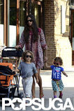 Camila Alves went for a stroll around NYC with Levi and Vida.