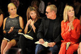 Jessica Simpson joined the Project Runway gang Nina Garcia, Michael Kors and Heidi Klum in NYC in September 2010.