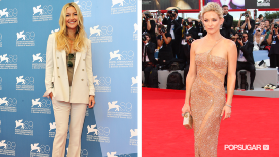 Kate Hudson Wows in a Sleek White Suit by Gucci!