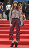 Florence Welch went all out on the printed front, this time in a head-to-toe Miu Miu look.