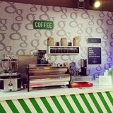 The coffee bar in the Google media lounge was adorable.