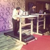 For those looking to burn calories while working, there were treadmill desks in the Google media lounge.