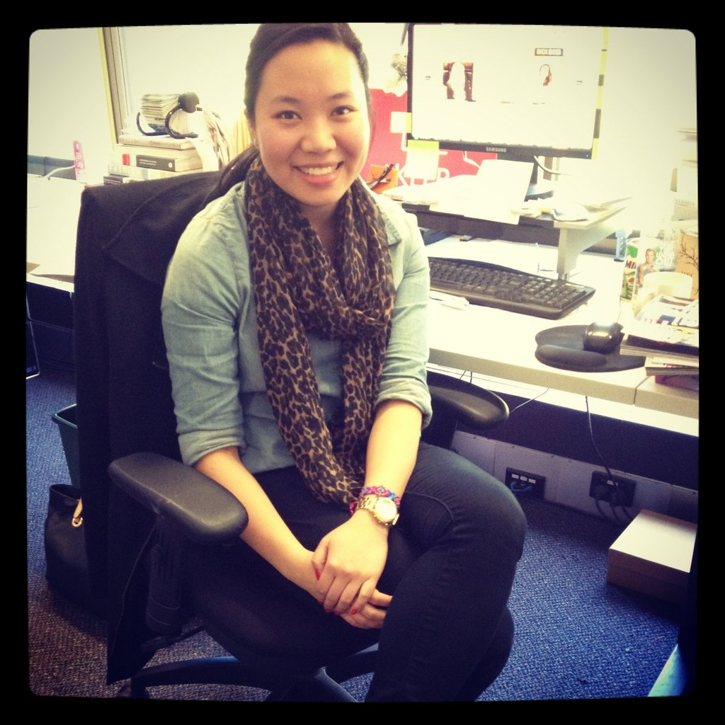 PopSugar editor Jess looked polished in a leopard-print Seed scarf, Jay Jays shirt and Portmans jeans.