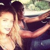 Gorgeous supermodel Doutzen Kroes took a drive with her husband, Sunnery James. Can you say, genetically blessed? Source: Instagram user Doutzenkroes1
