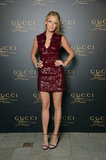 Blake Lively struck a pose at the Gucci fragrance launch in Venice.