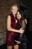Blake Lively and Salma Hayek embraced at the Gucci fragrance launch party in Venice.