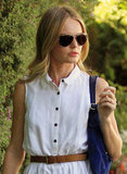 Kate Bosworth rocked shades and a waist belt.