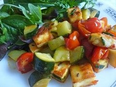 Courgette, Paneer & Cherry Tomatoes Stir-Fry