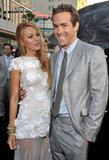 Blake Lively and Ryan Reynolds got cute on the red carpet for Green Lantern in June 2011.