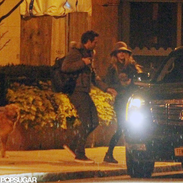 Blake Lively and Ryan Reynolds hopped into a car outside of Ryan's Boston hotel in October 2011.