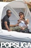 Jay-Z and Beyoncé celebrated her 31st birthday with Blue Ivy on a St. Bart's getaway in September 2012.