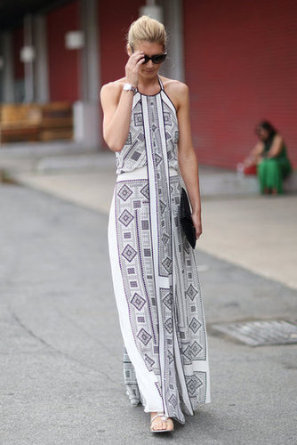 A fresh full-length print was all the more wearable on an easy, breezy maxi dress. Source: Greg Kessler