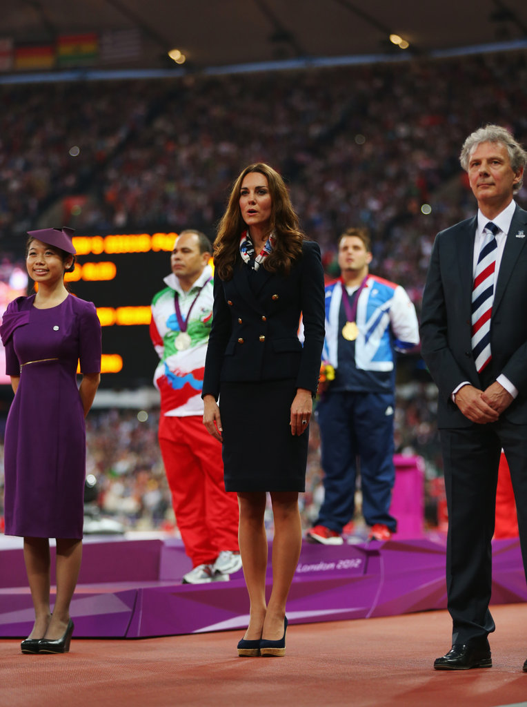 Kate Middleton was on the field at the Paralympics.