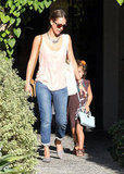 Jessica Alba and Honor Warren walked out of an LA salon together.